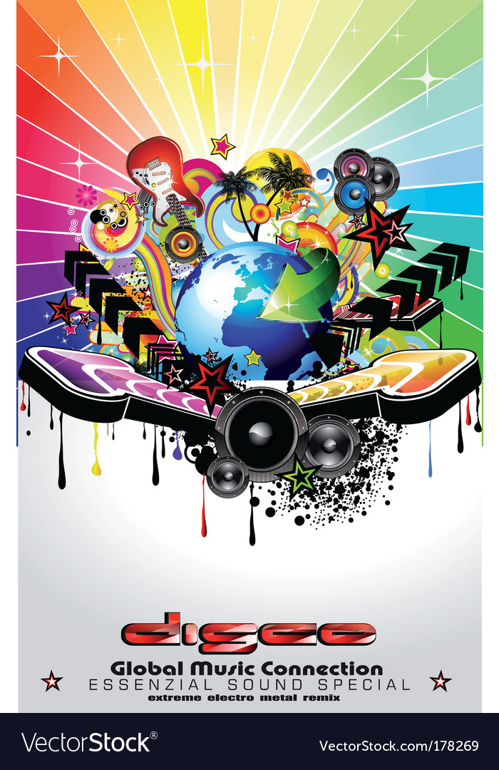 Music event background vector