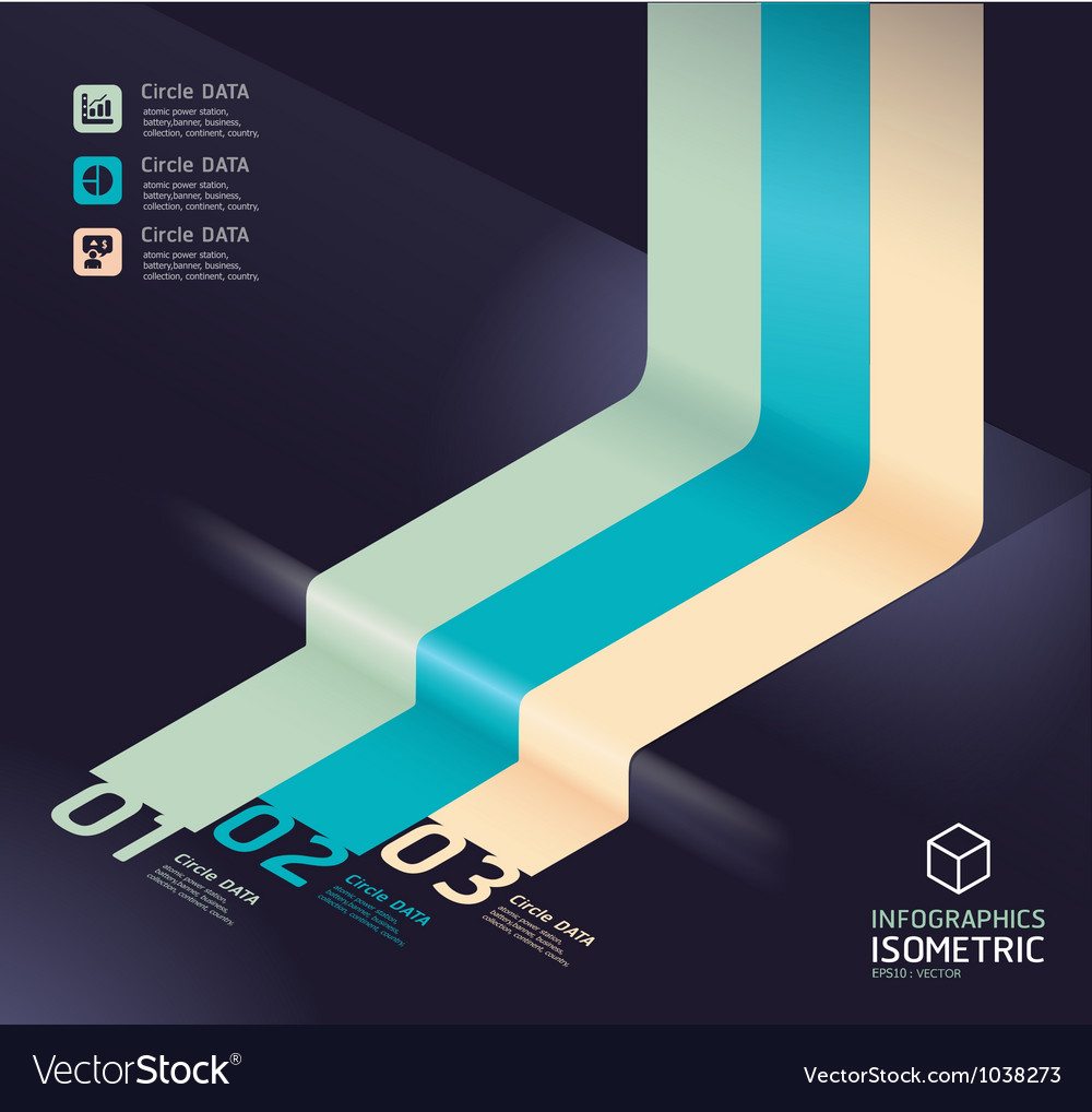 Infographic arrow diagram chart detailed vector