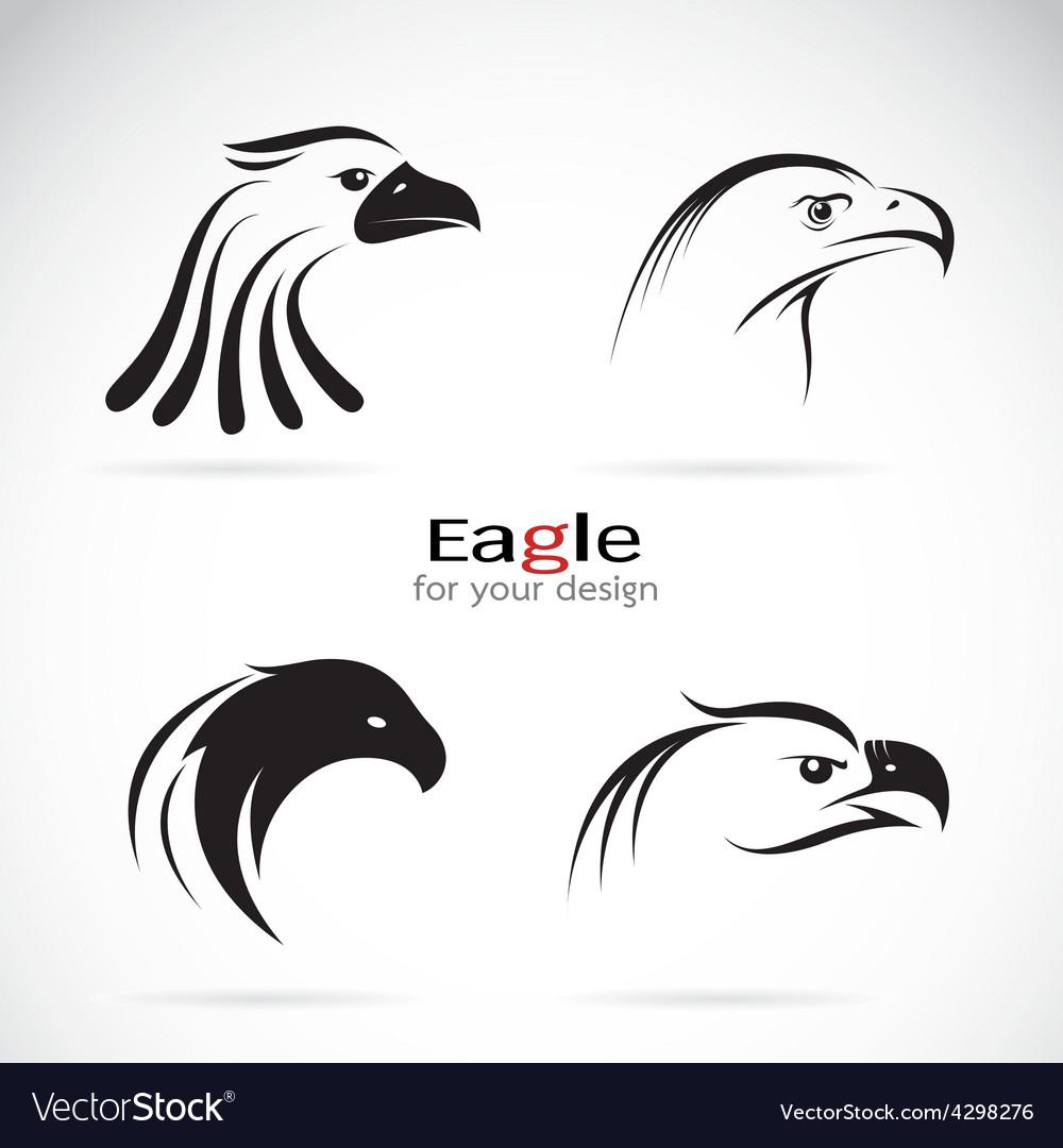 Group of eagle head design vector