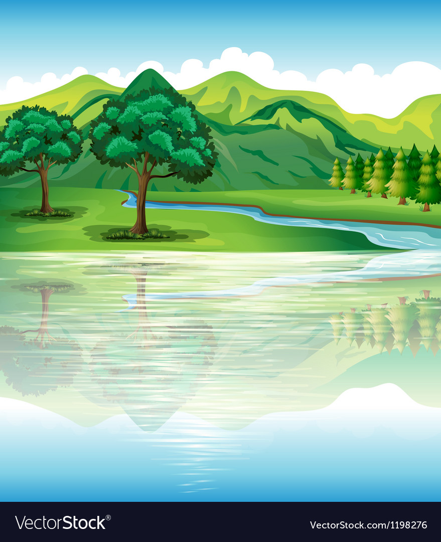 Our natural land and water resources vector