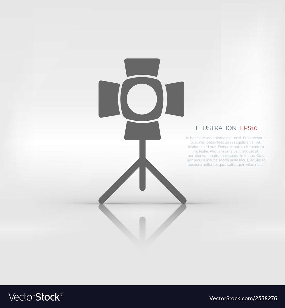 Spotlight icon light for photocamera vector