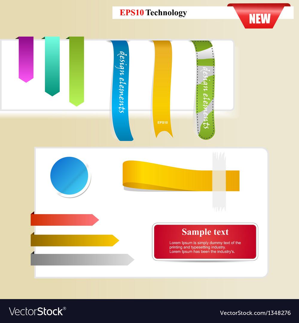 Web page sticker designs vector