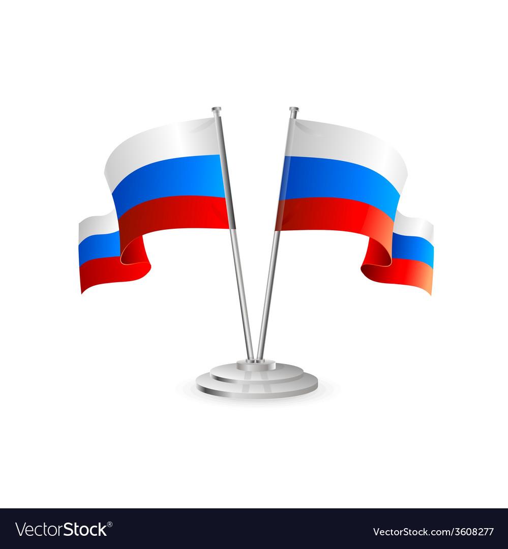 Russian table flag vector