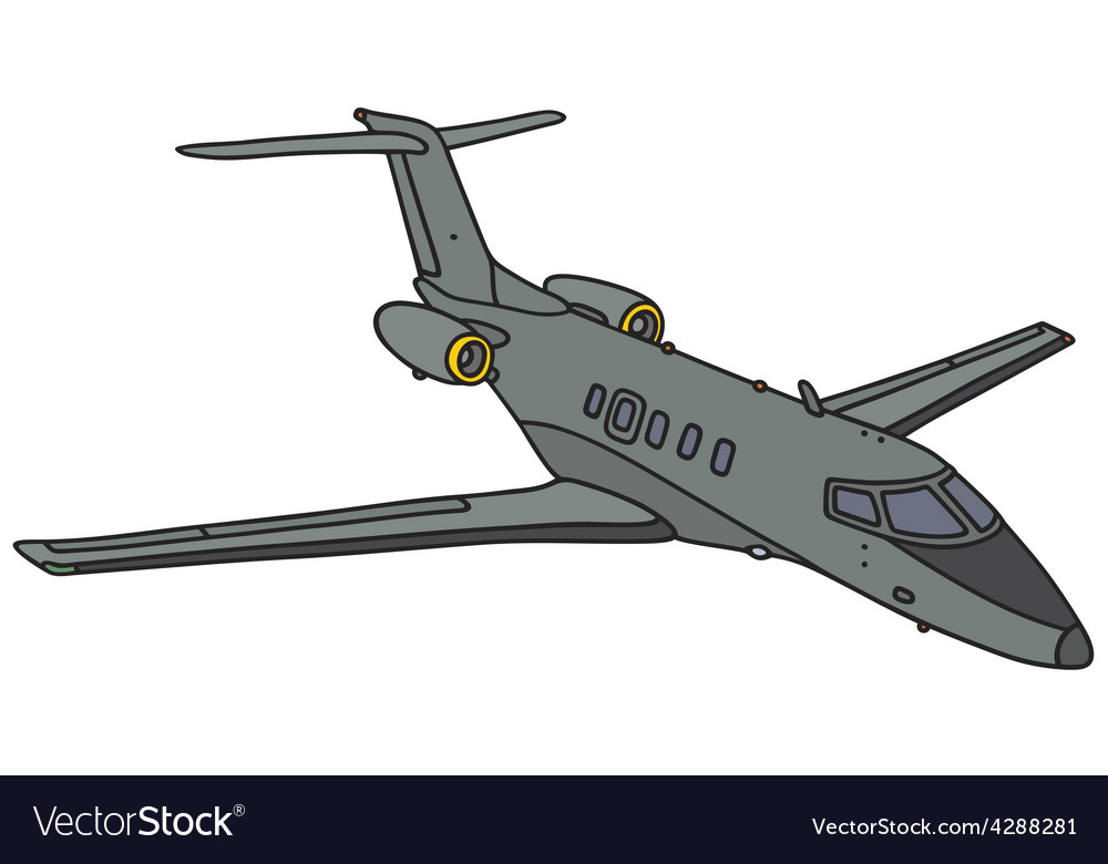 Military small jet vector