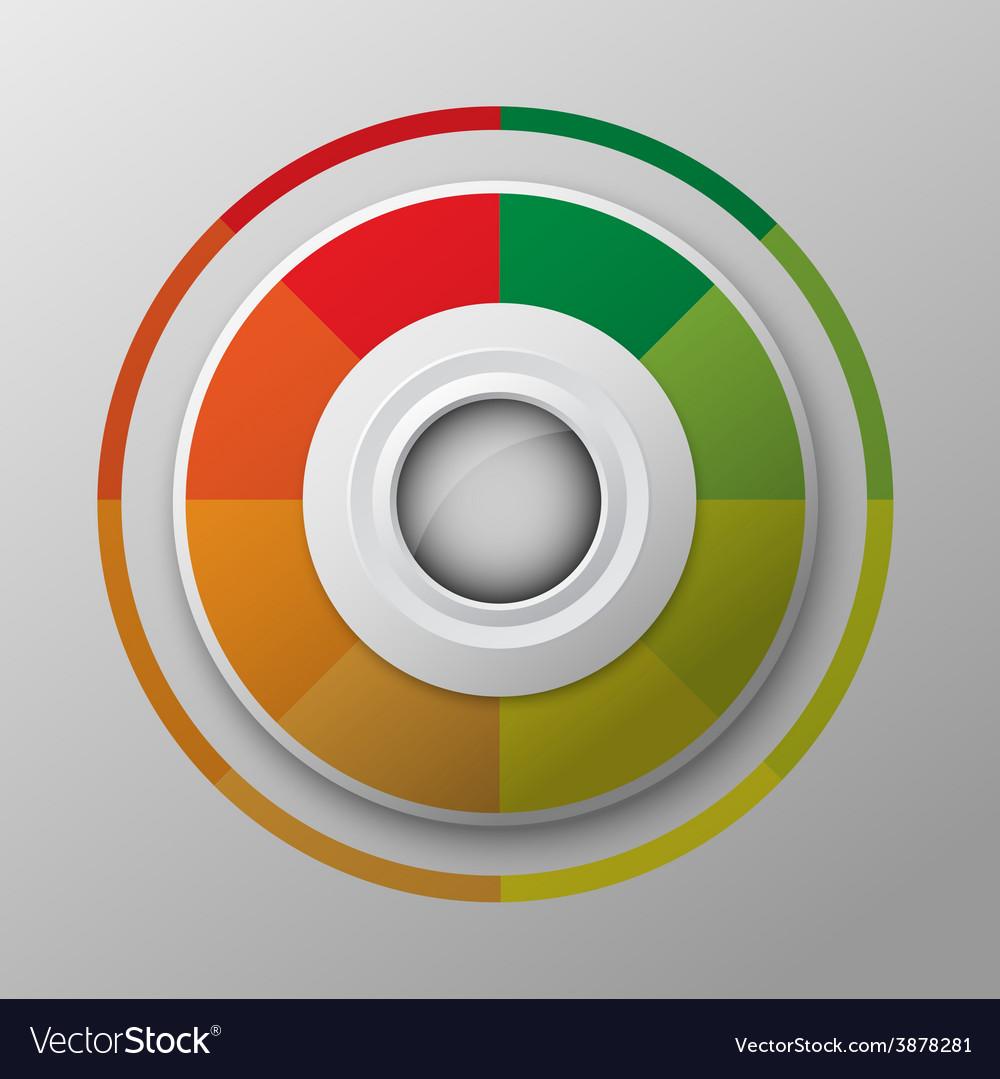 Modern circle button design vector