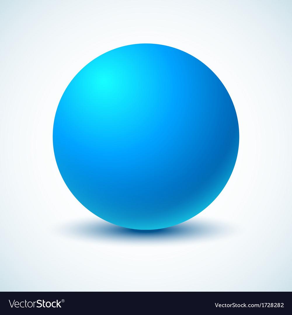 Blue ball vector