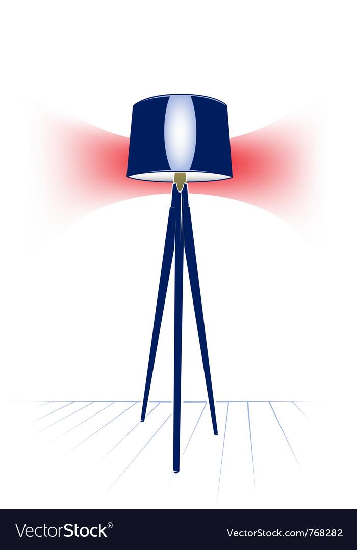 Electric modern floor lamp vector