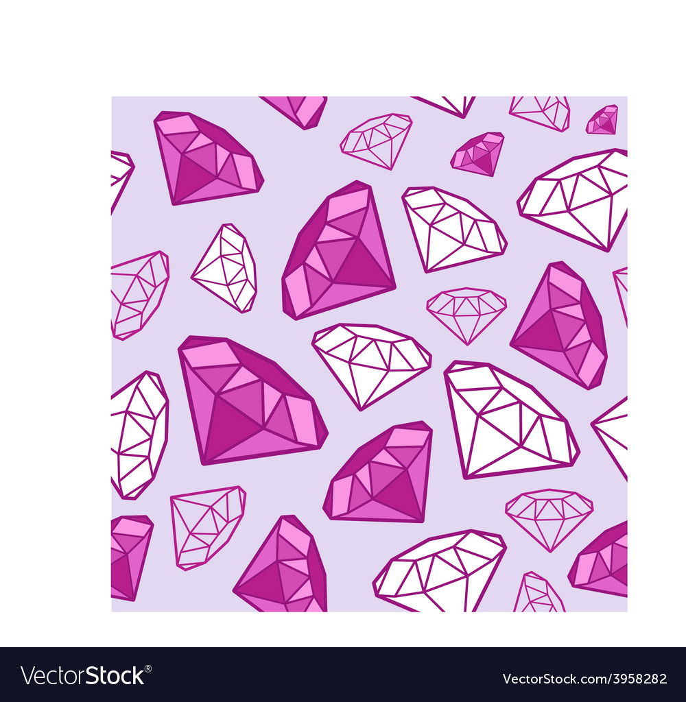 Glamour fashion diamond vector
