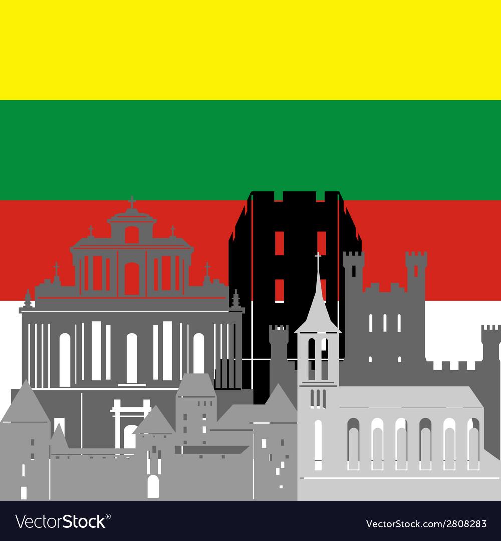 Lithuania vector