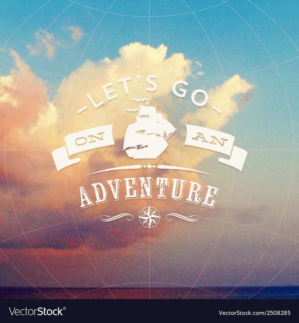 Adventure background vector