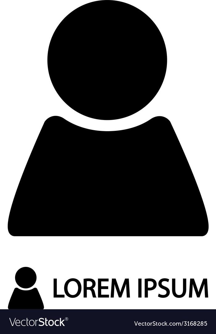 Black person sign vector