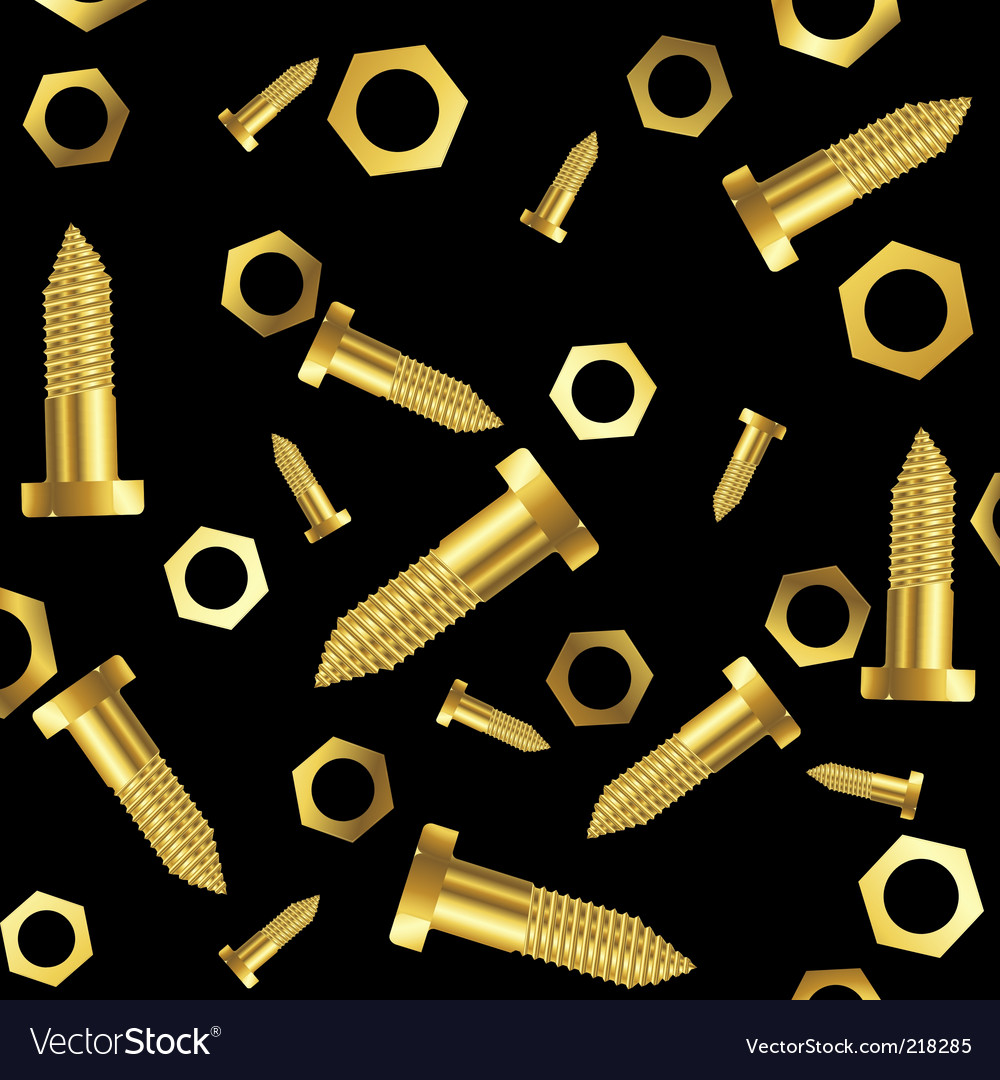 Screws and nuts background vector