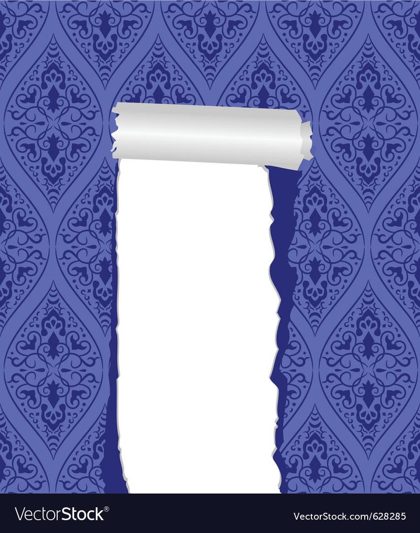 Torn wallpaper vector