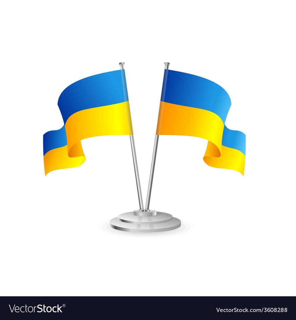 Ukraine table flag isolated vector