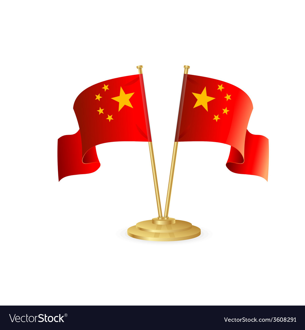 China table flag isolated vector