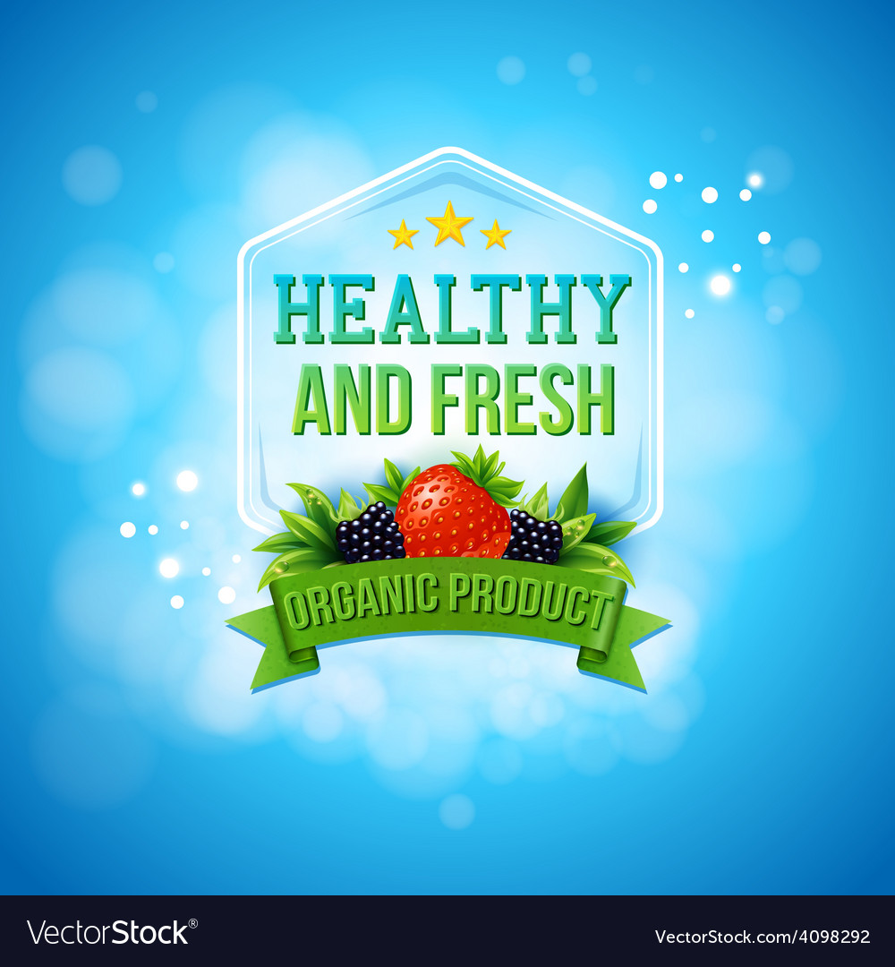 Advertising poster for fresh farm products vector