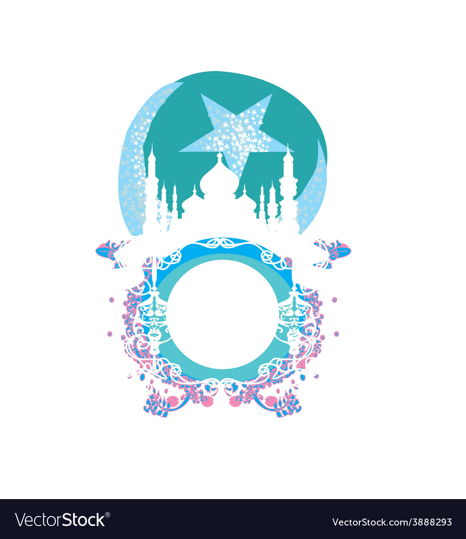 Abstract religious frame - ramadan kareem design vector