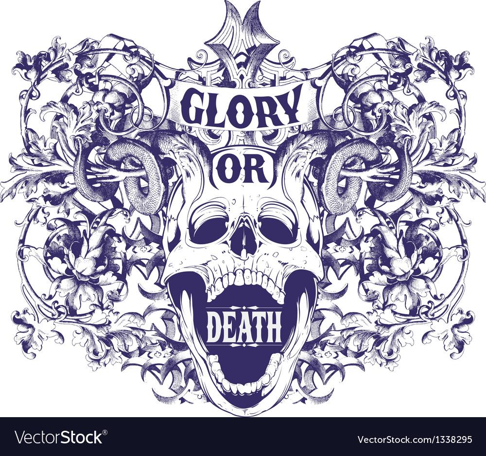 Glory or death vector