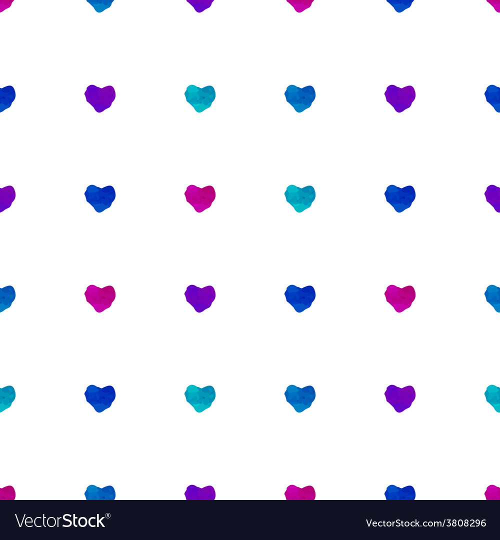 Watercolor seamless pattern with hearts vector