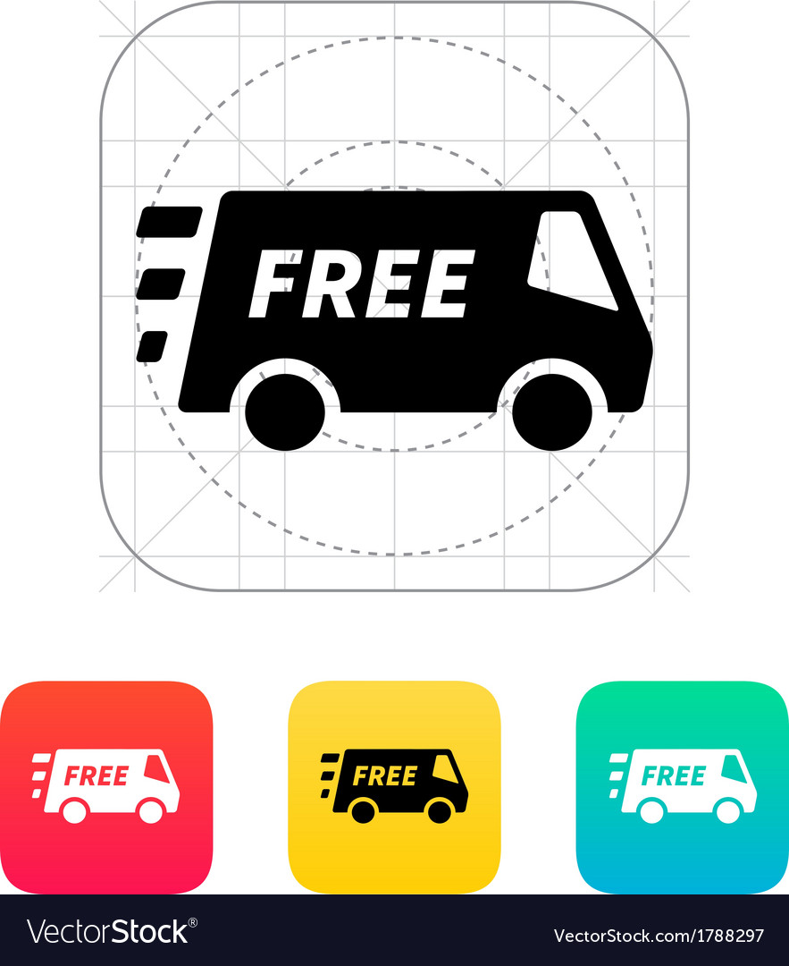 Free delivery service icon vector