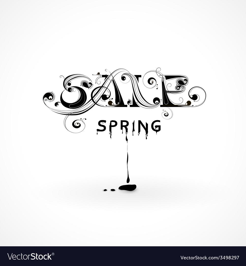 Lettering spring sale vector