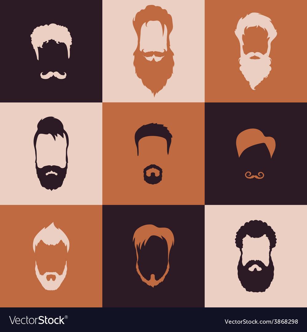 Beards set vector