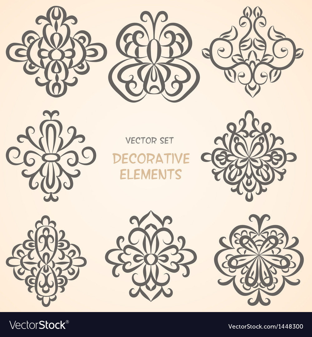 Decorative ethnic elemens vector
