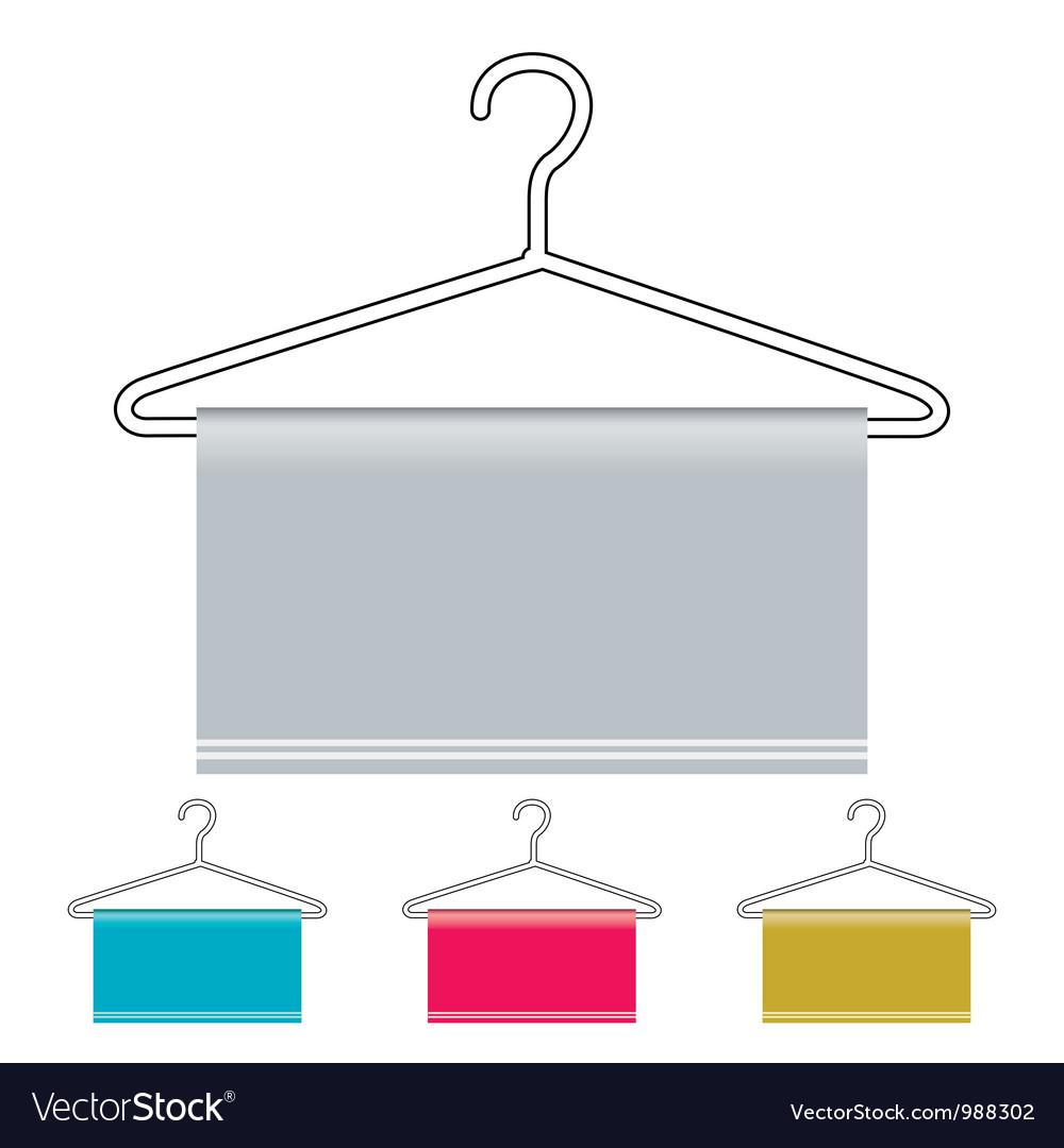Coat hanger icon vector