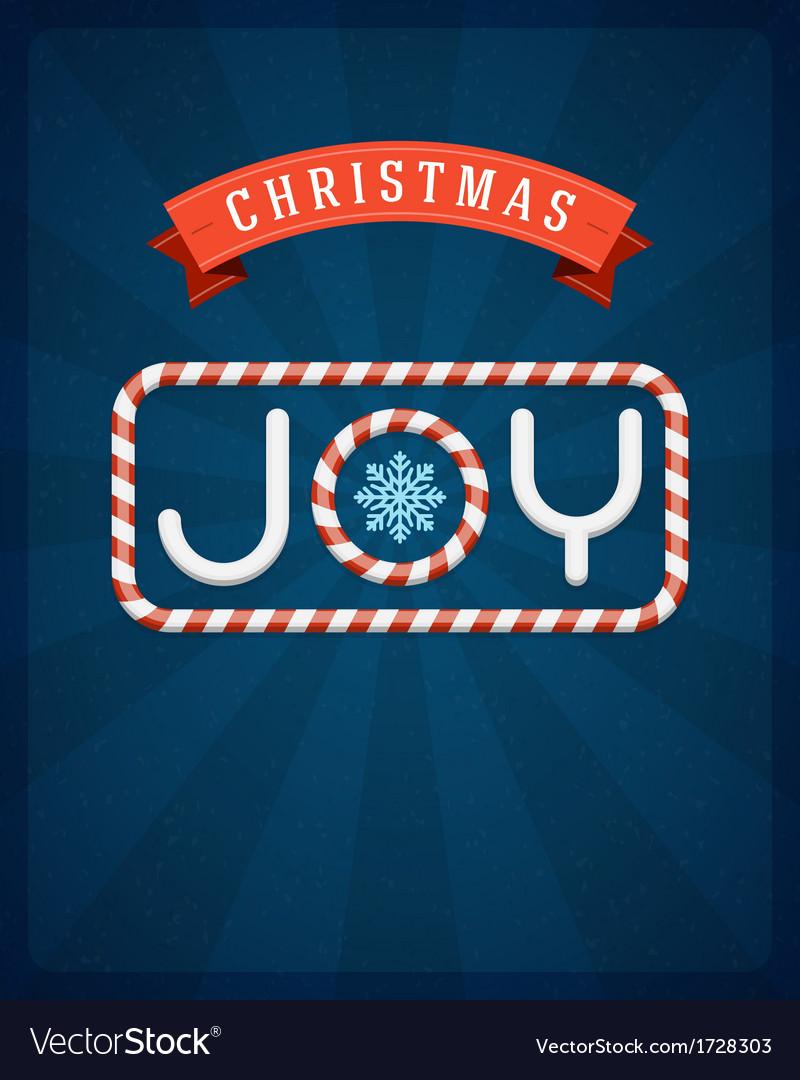 Christmas joy postcard vector