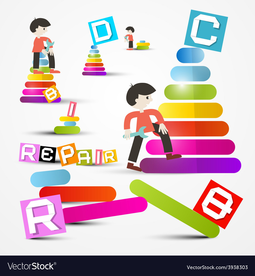 People repairing - maintaining objects vector