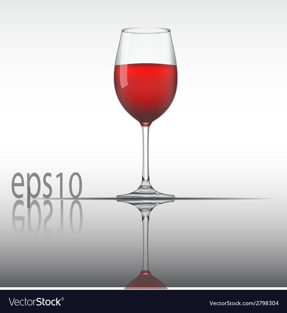 Wine glass vector