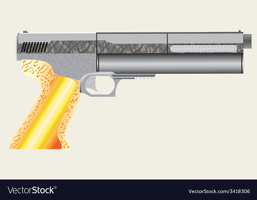 Air pistol vector