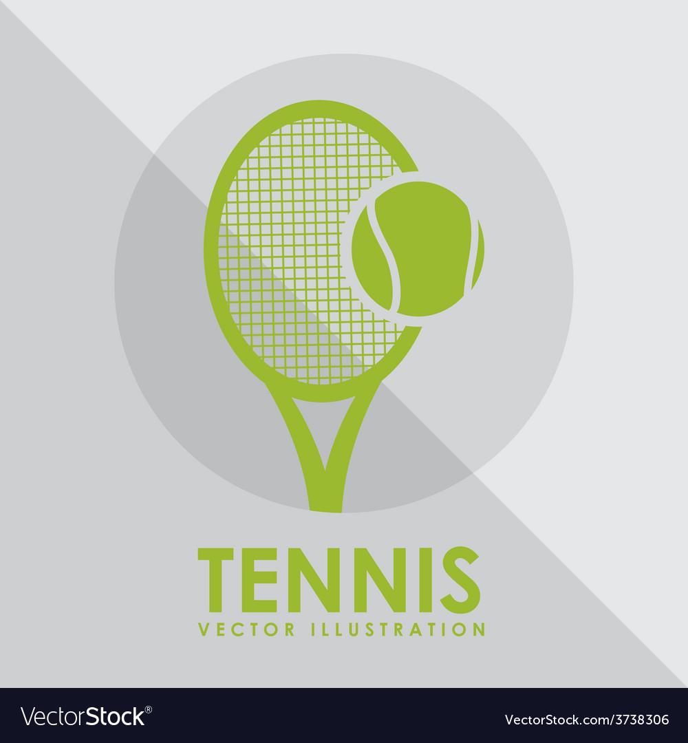 Tennis game design vector