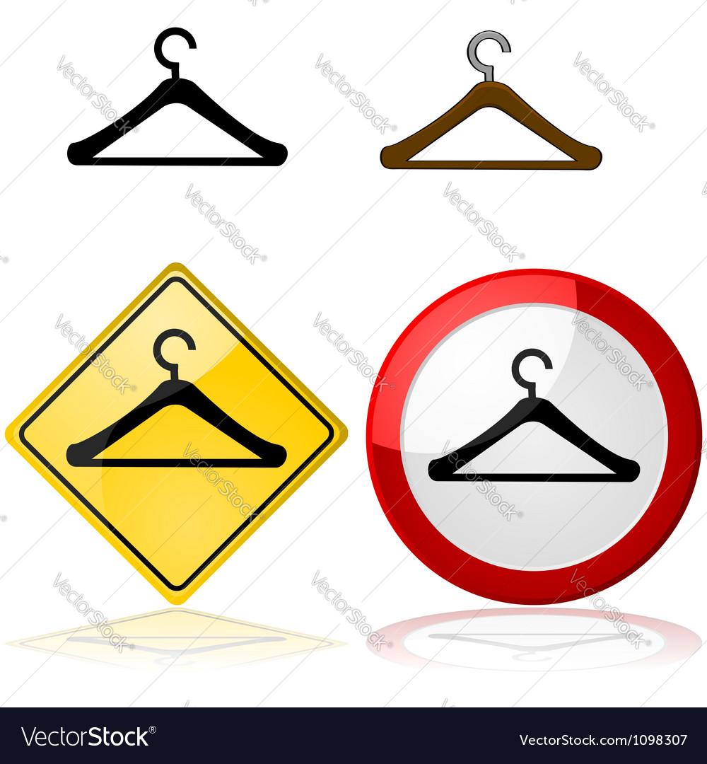 Hanger signs vector