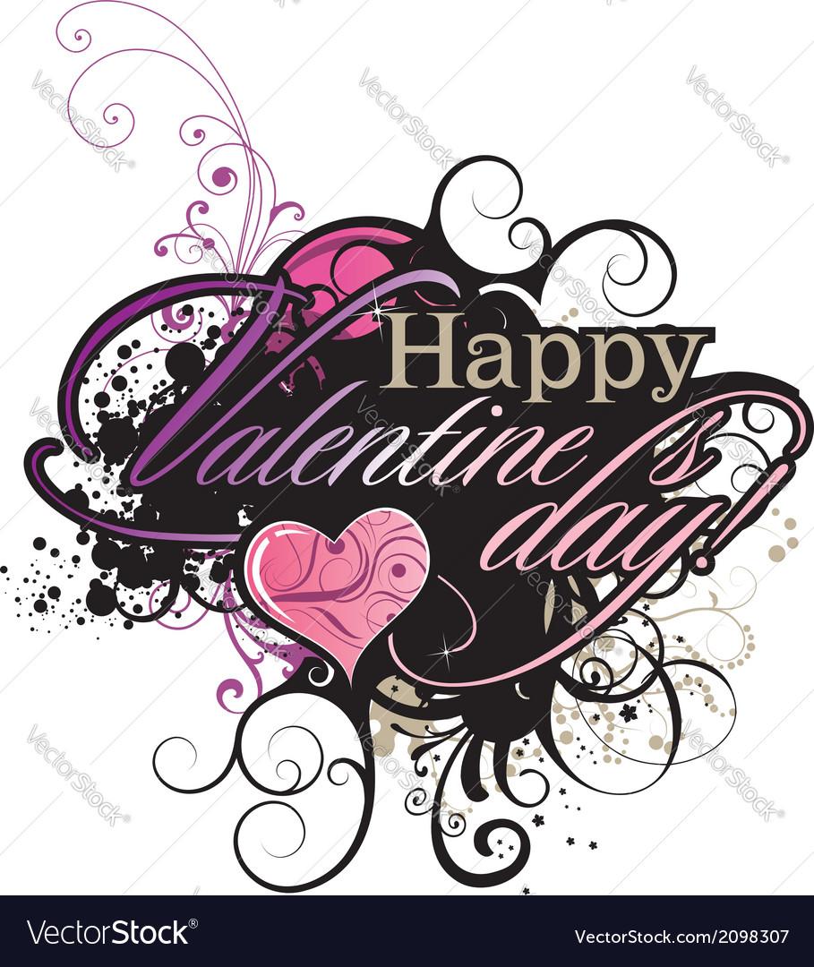 Valentines day grunge inscription vector