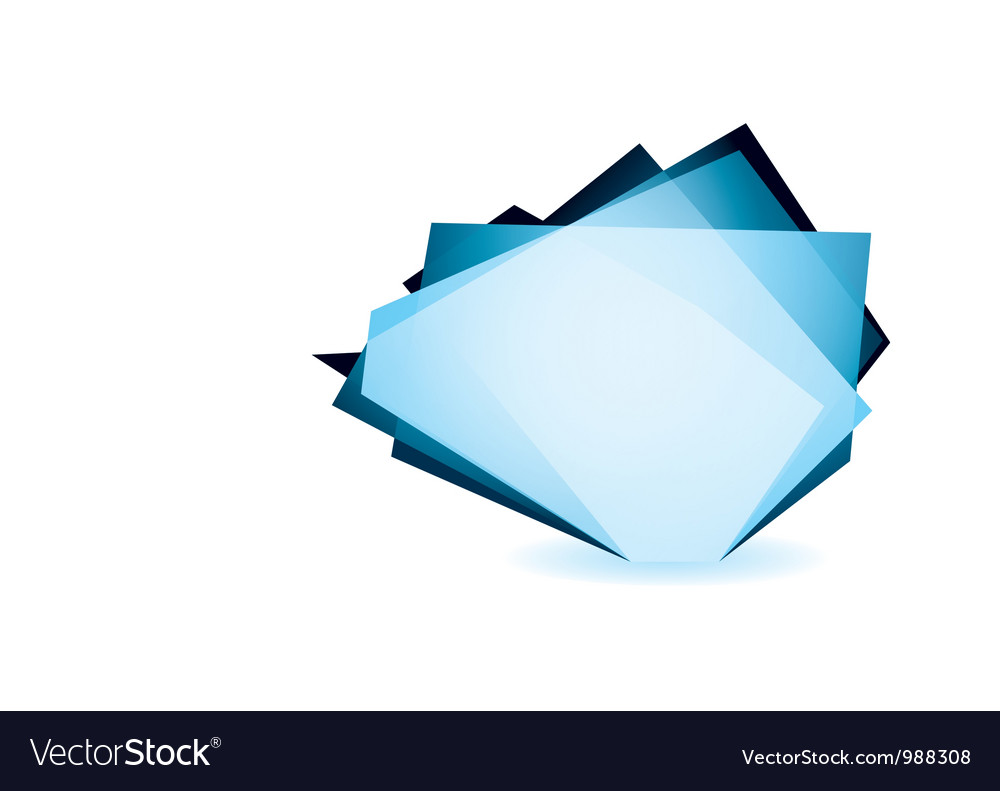 Glass shard cobalt vector