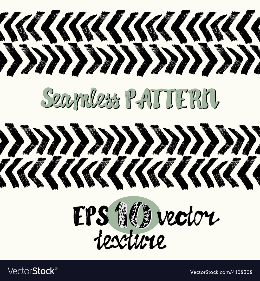 Seamless brush pen hand drawn doodle pattern vector