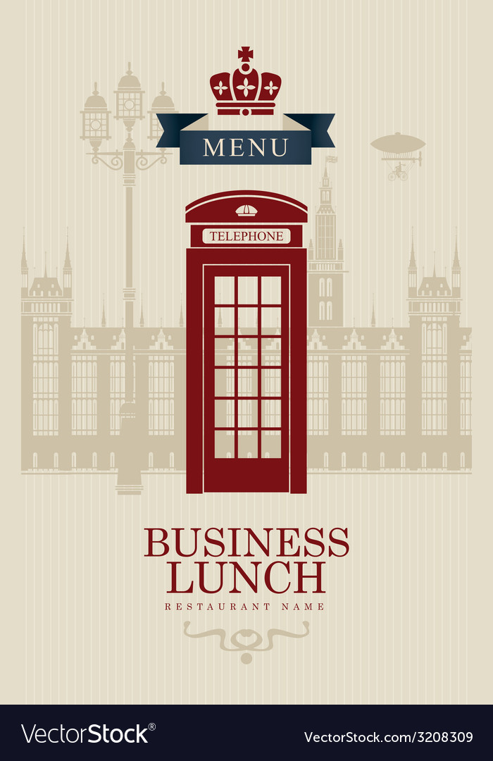British business lunches vector