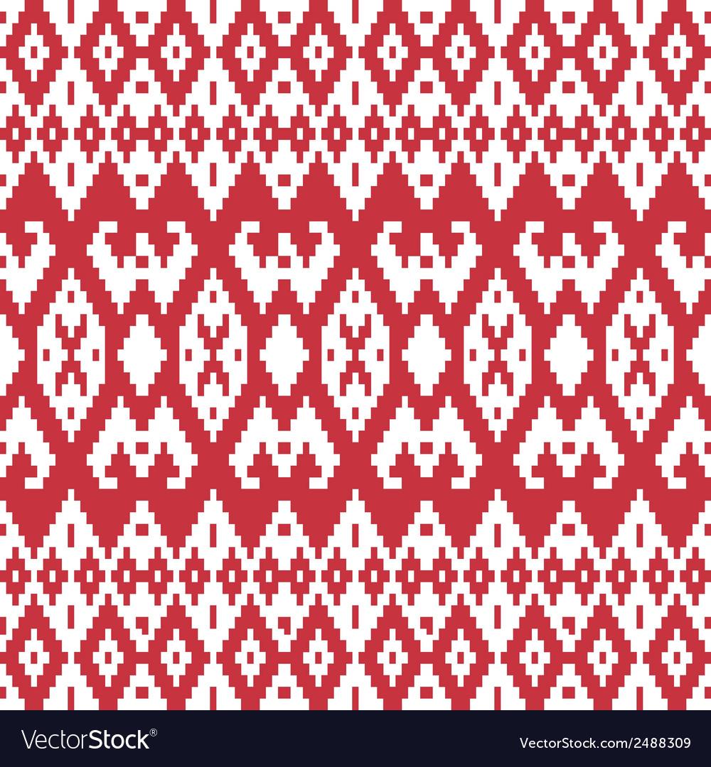 Ethnic textile ornamental seamless pattern vector