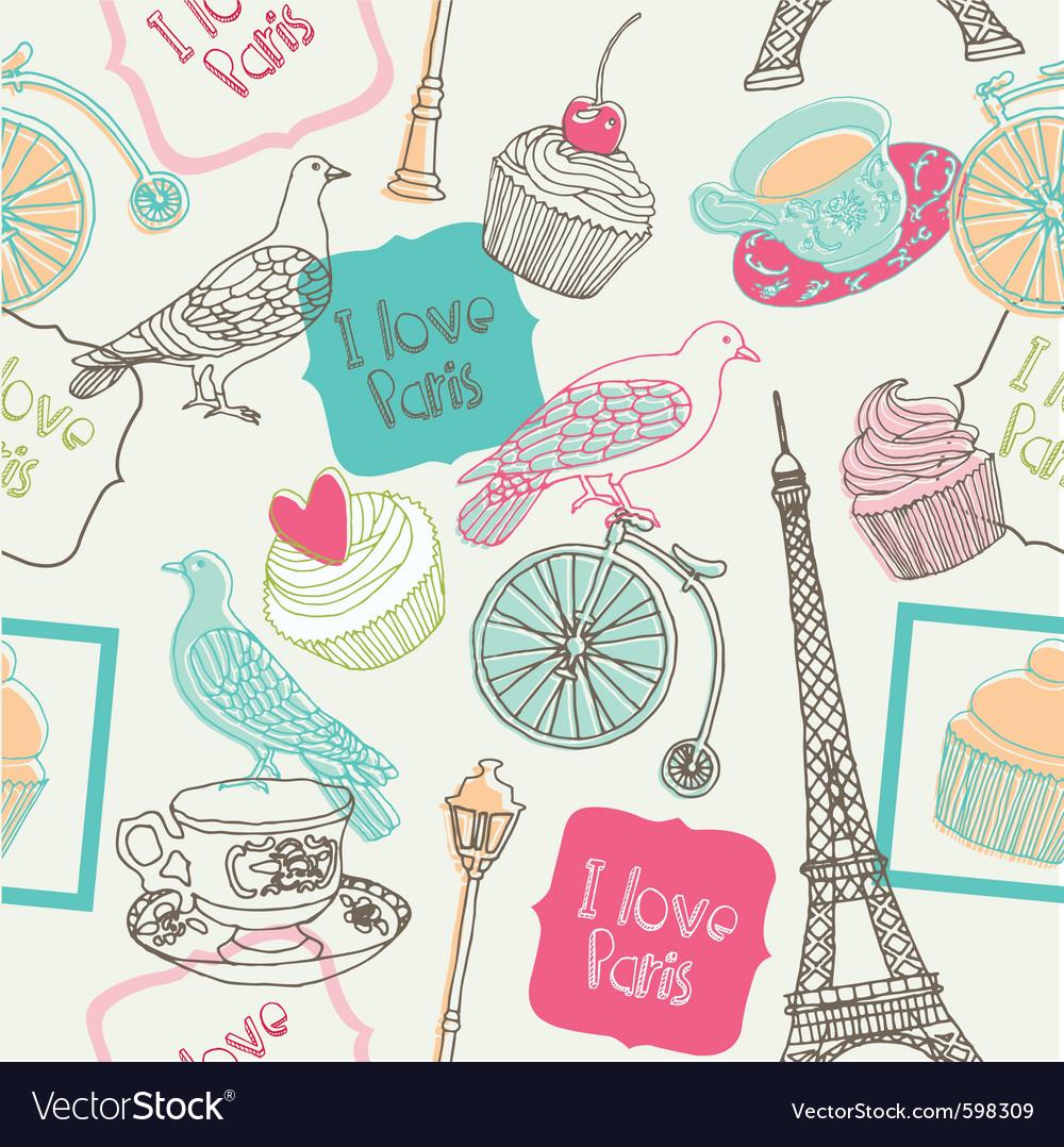 Love paris vector