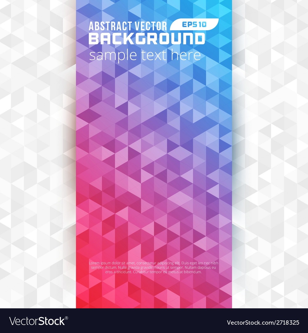 Abstract geometric triangles colorful modern backg vector