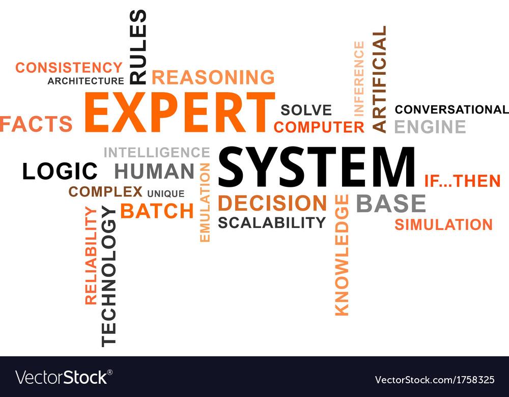 Word cloud expert system vector