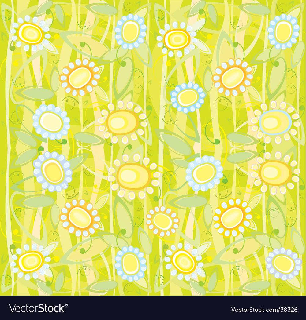 Sunflower floral background vector