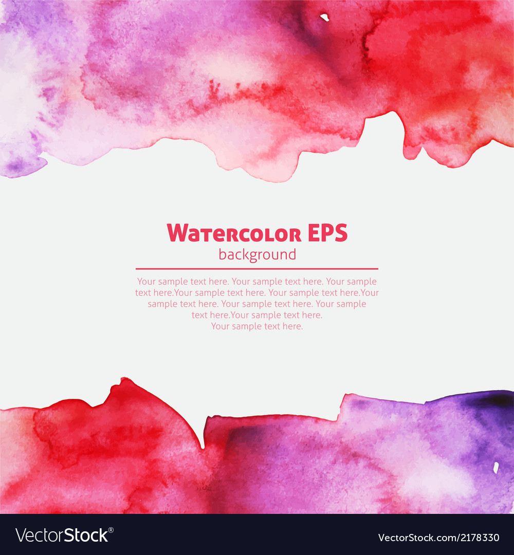 Watercolor pink abstract frame vector