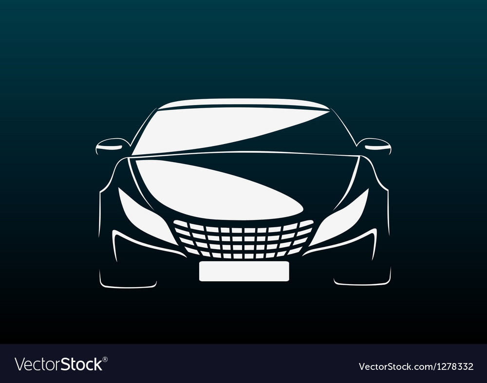 Auto in darkness vector