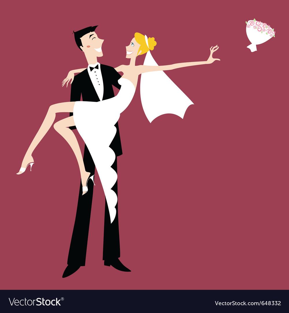 Cool sexy bride vector