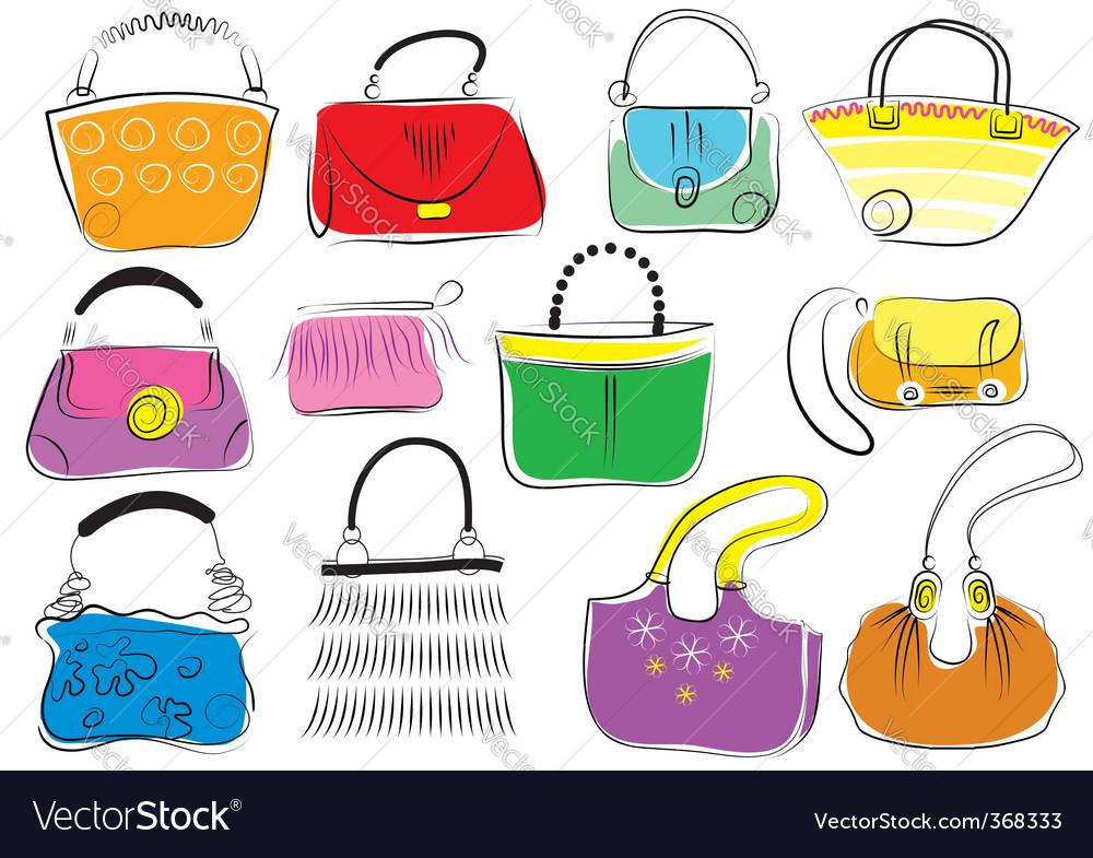 Fashion bags vector