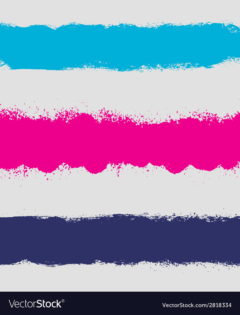 Grunge paint stain headers background stripes vector