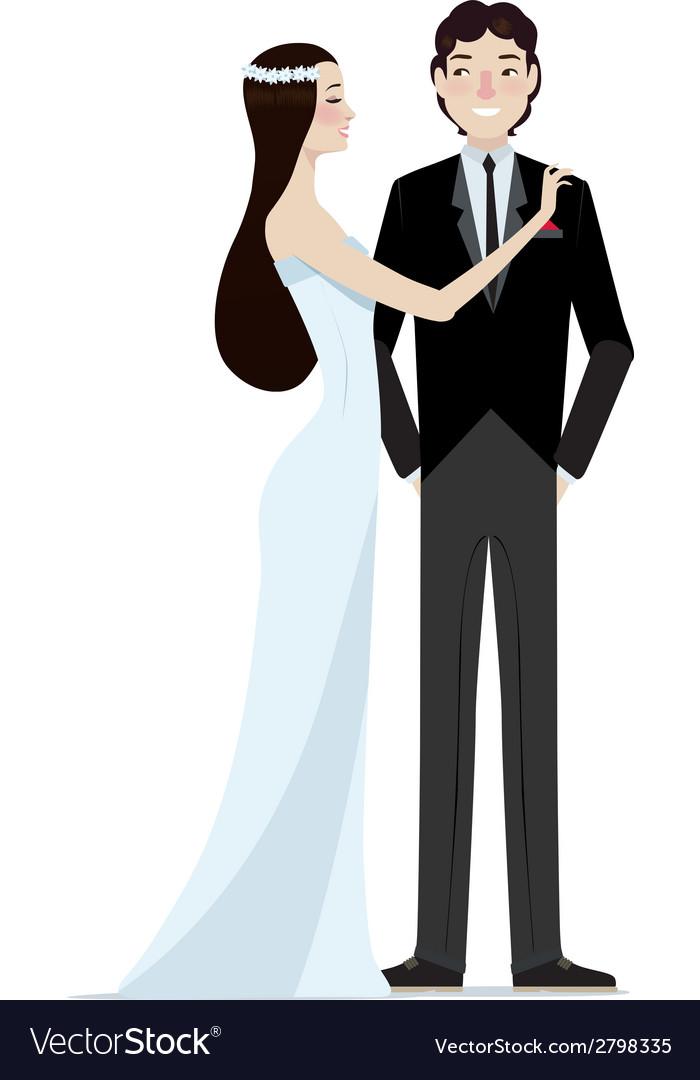 Bride and groom wedding vector