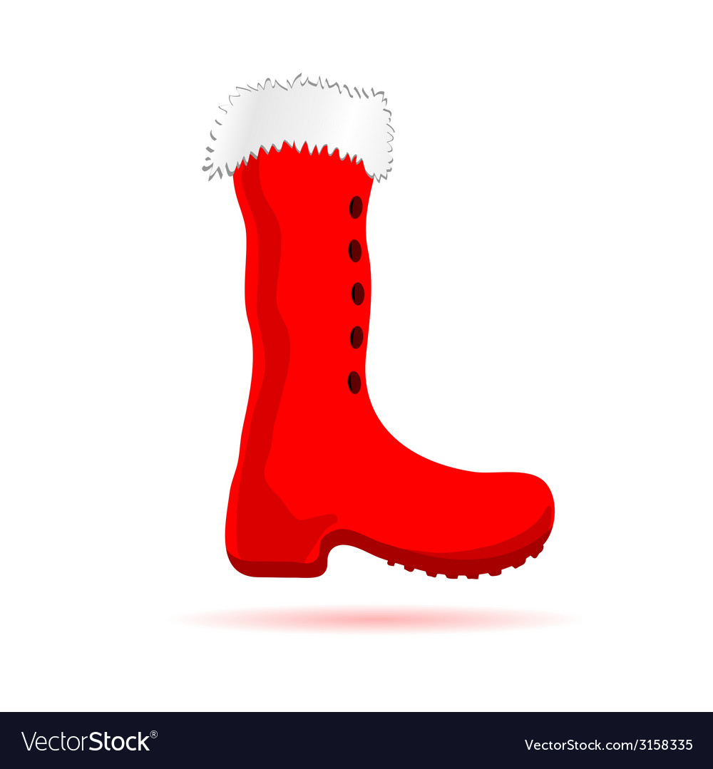 Christmas red boots vector